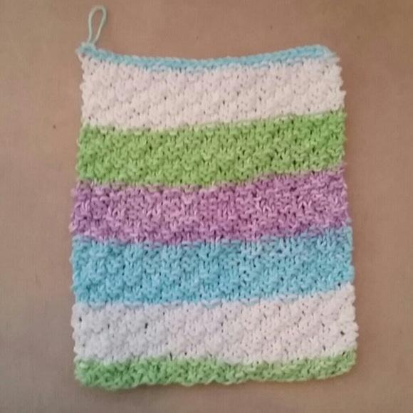 Other - Handknit multicolor washcloth